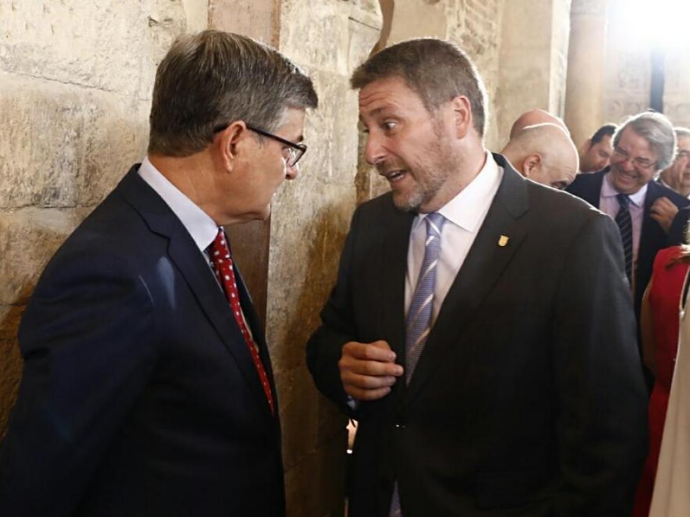 Toma de posesión de Javie Lambán como presidente de Aragón en el palacio de la Aljafería