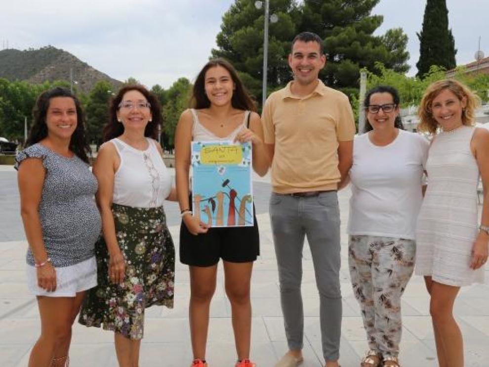 """""""Ambient de Santa"""",de Mar Cuchí, es el cartel anunciador de las fiestas de la Santa 2019 de Mequinenza."""