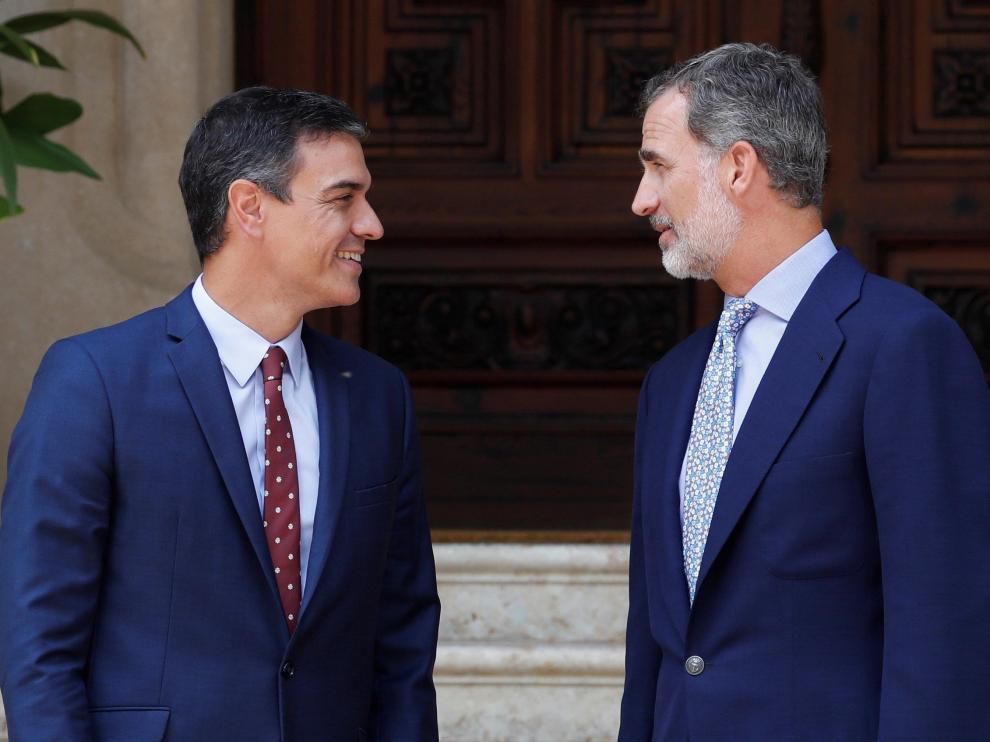 Pedro Sánchez se ha reunido este miércoles con el rey Felipe VI en el Palacio de Marivent de Palma.