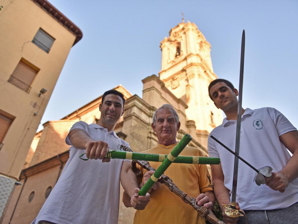 Carlos Nasarre, Francisco San Emeterio y Enrique Carrera, tres de los protagonistas de esta mañana.