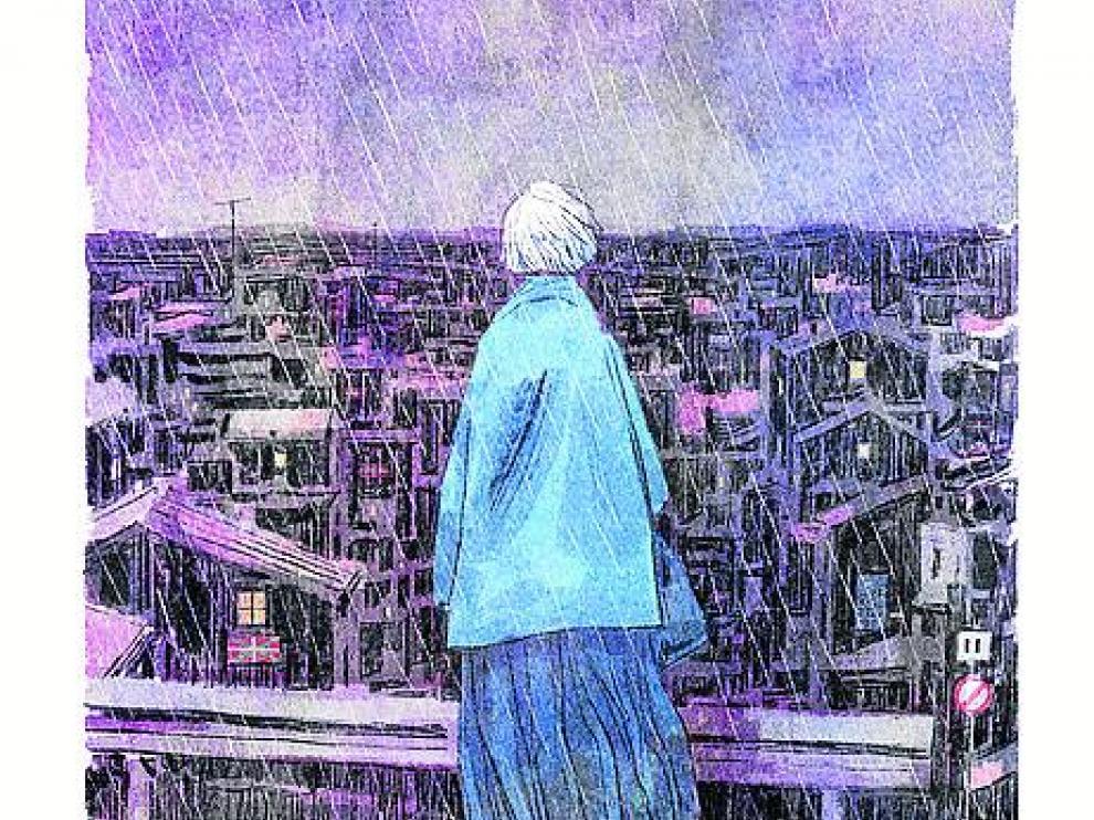 Imagen de la versión en novela gráfica de 'Patria', por el ilustrador Toni Fejzula