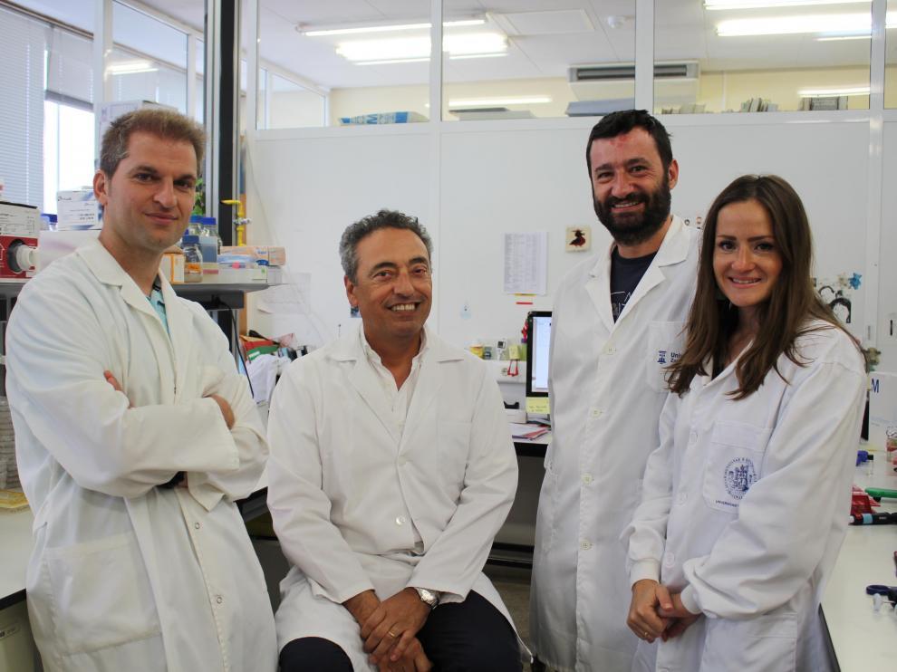 De izquierda a derecha: Jesús Gonzalo, Carlos Martín, Nacho Aguiló y Dessislava Marinova.