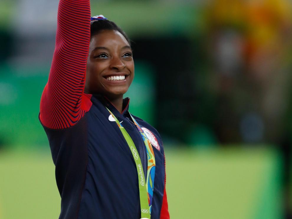 Simone Biles en Rio 2016.