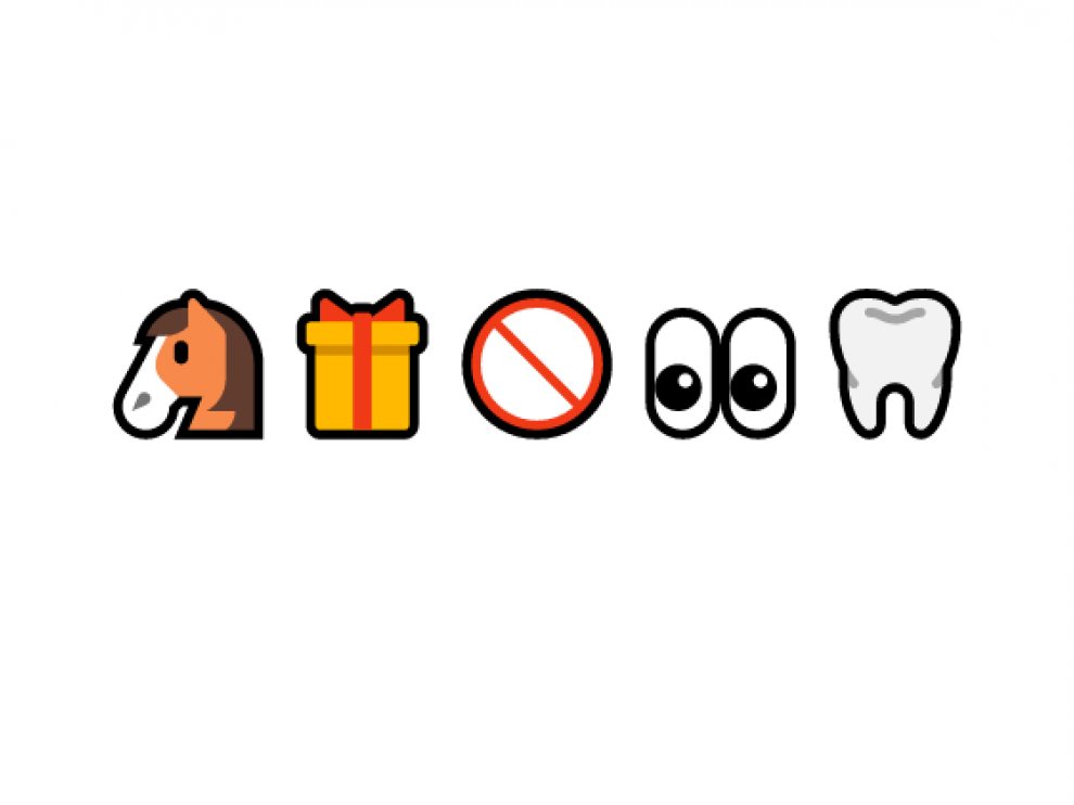 Uno de los refranes del reto viral con emojis.