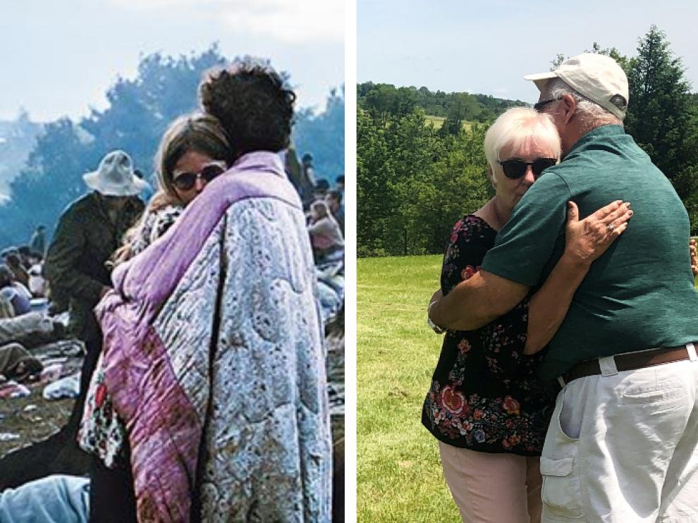 Nick y Bobbi Ercoline hace cincuenta años y en una imagen reciente