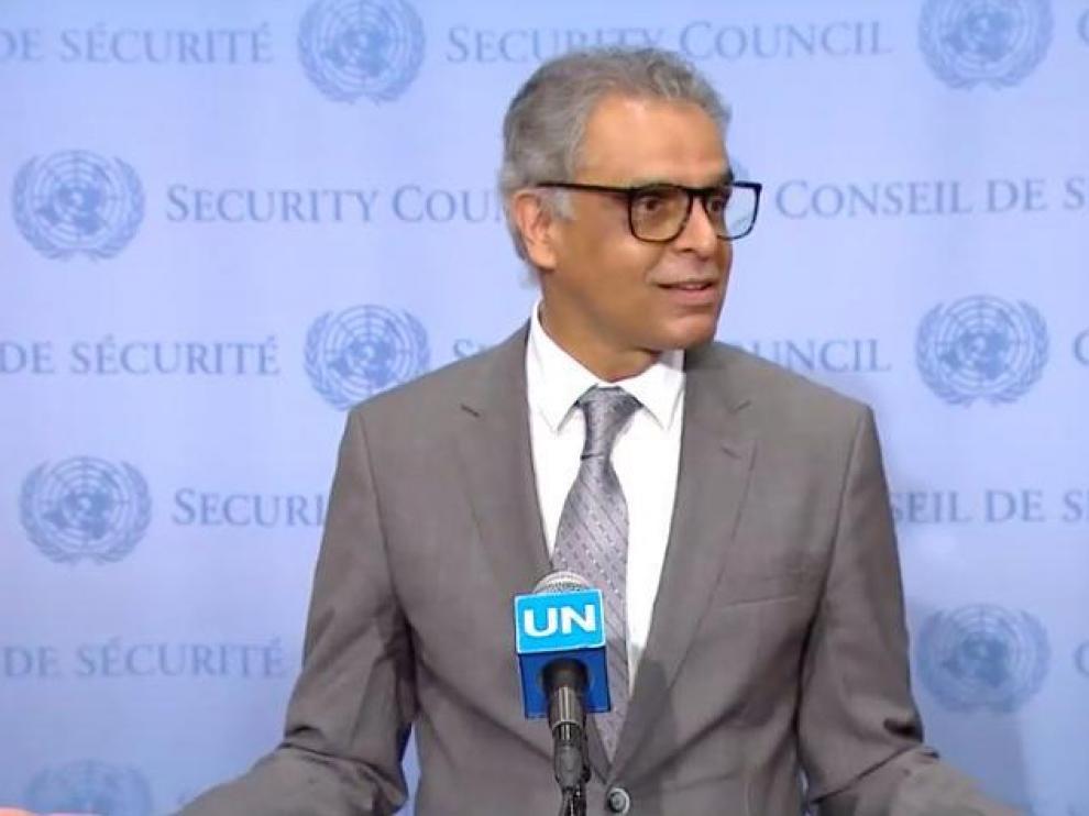 El representante de la India en Naciones Unidas, Syed Akbaruddin.