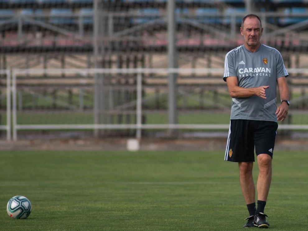 Víctor Fernández, durante el ensayo de la Ciudad Deportiva.