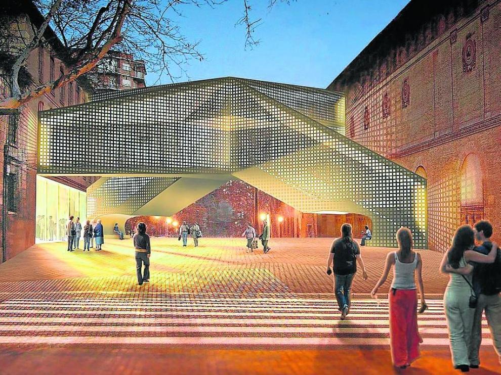 Recreación del proyecto del estudio de arquitectura Herzog & De Meuron.