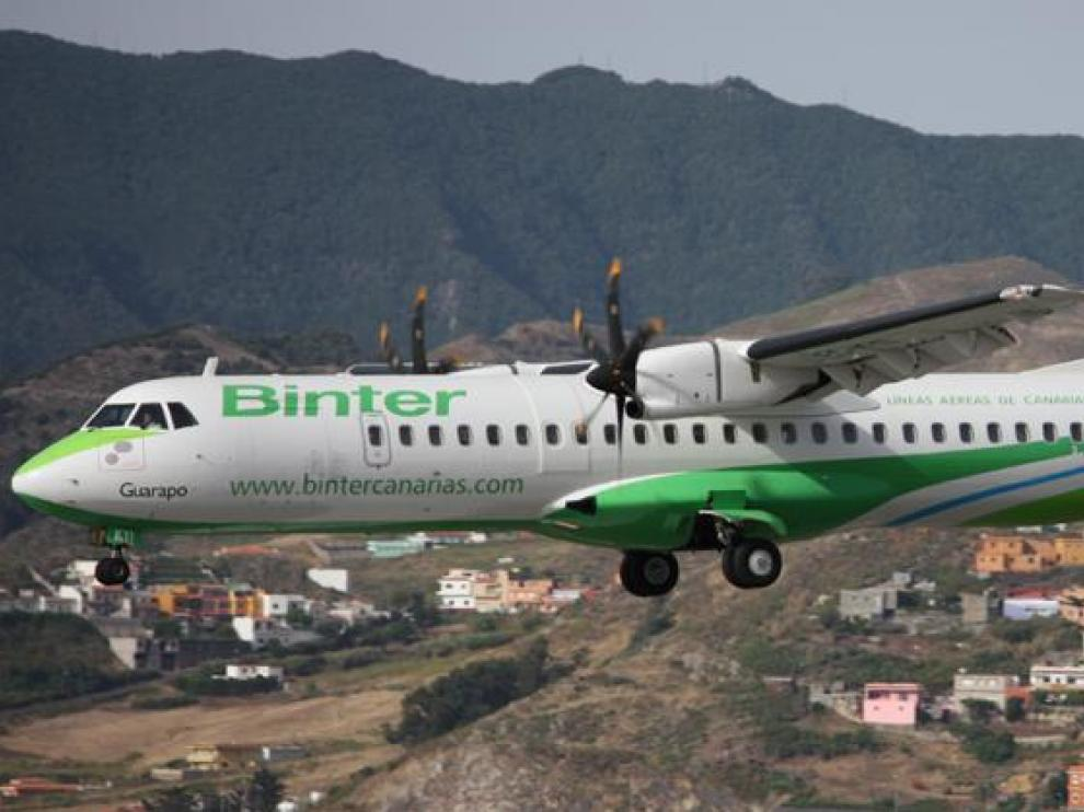 Un avión de la compañía Binter