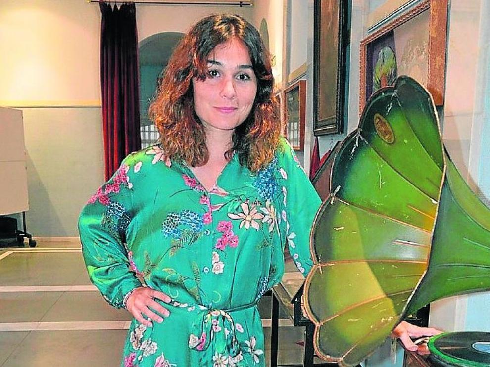 Nadia de Santiago, en Tarazona, donde este viernes estrena un corto.