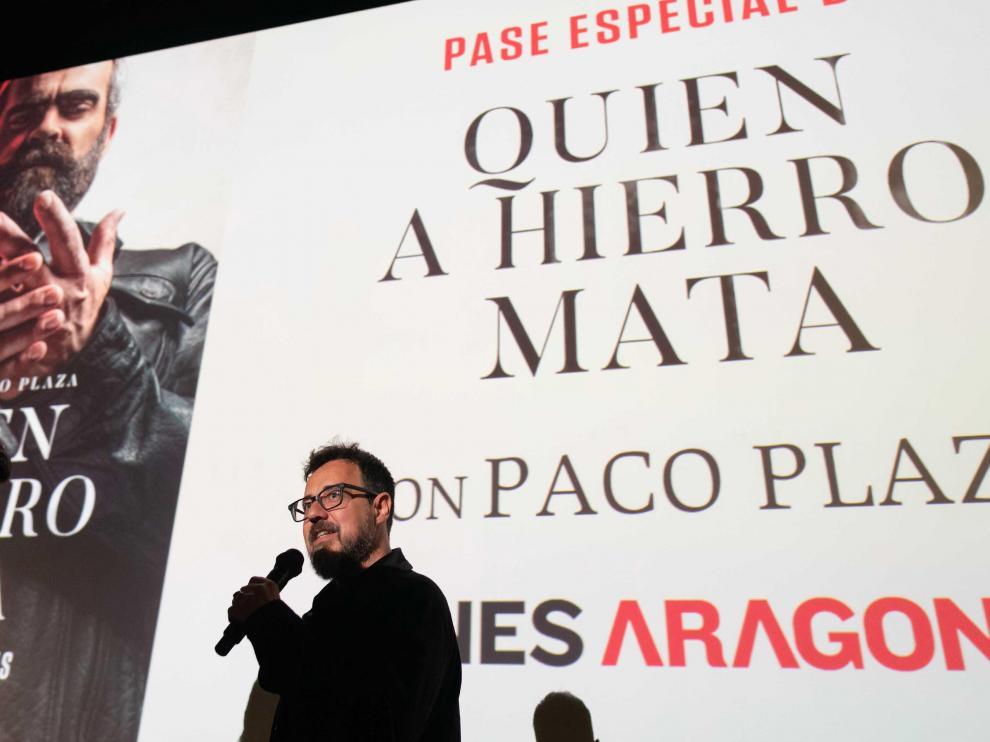 Presentación en los cines de Aragonia de la nueva película de Paco Plaza.