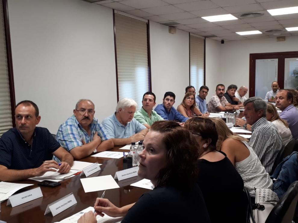 Asistentes al consejo comarcal del Somontano.