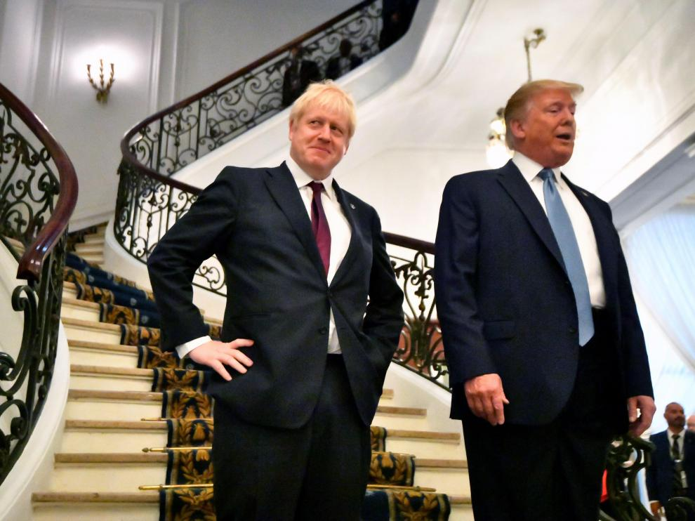 Donald J. Trump, junto al primer ministro británico Boris Johnson