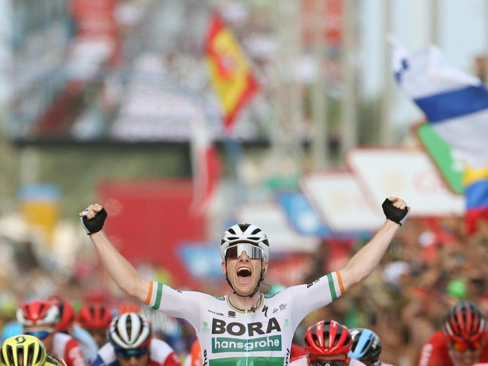 El ciclista irlandés Sam Bennett, vencedor de la tercera etapa de la Vuelta a España 2019.