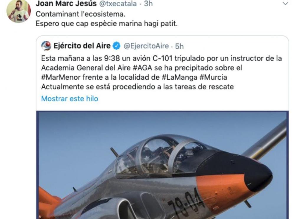 Un dirigente de la ANC se mofa del accidente del avión del Ejército.