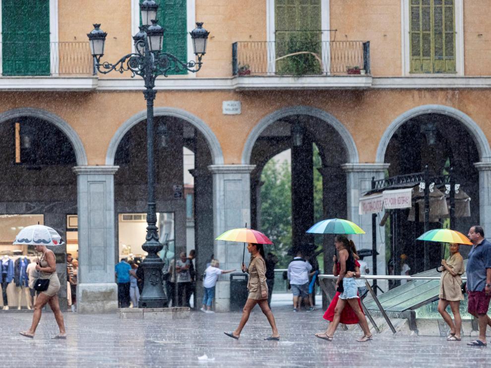 Lluvia en Palma de Mallorca.