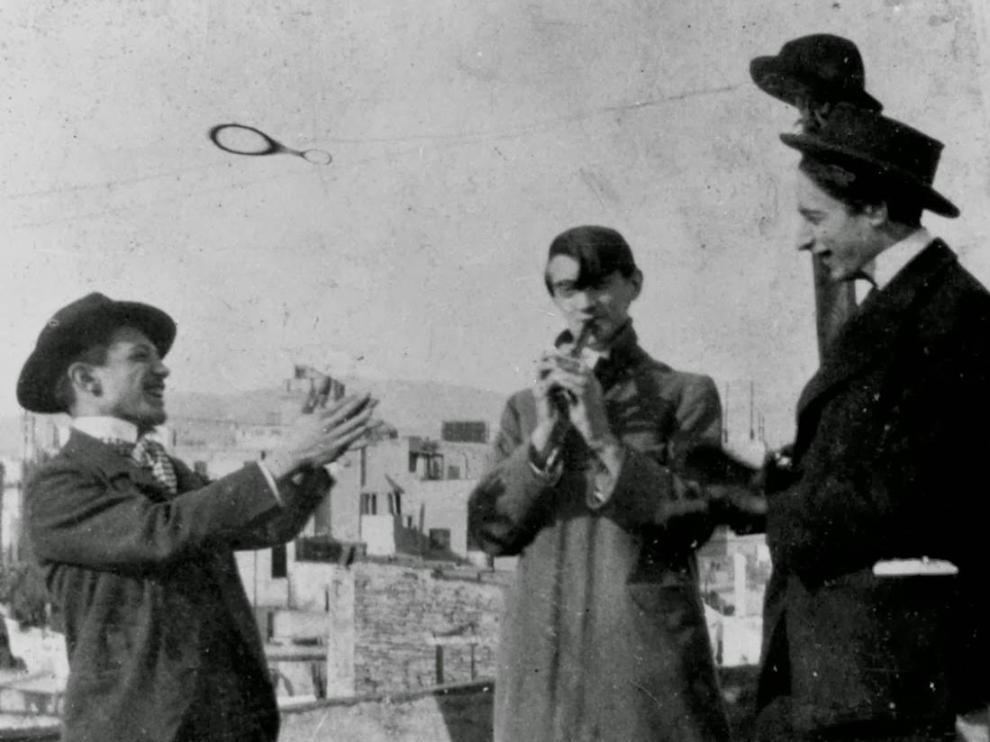 Ángel Fernández de Soto, Pablo Picasso y Carlos Casagemas, en 1900