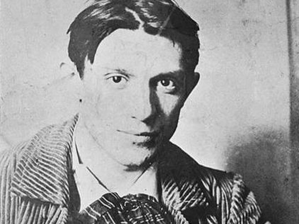 Pablo Picasso en 1904 fotografiado por Ricardo Canals