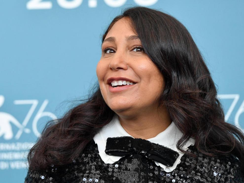 La directora de cine saudí Haifaa Al-Mansour en el Festival de Venecia.