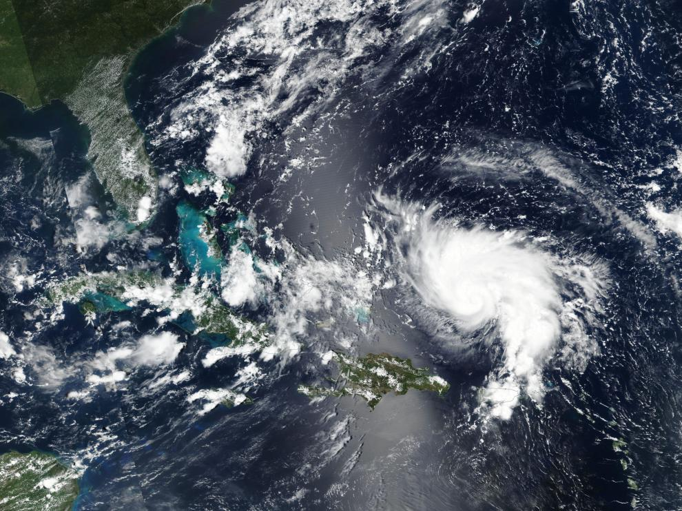 Hurricane Dorian approaches the coast of Florida, U.S. in this August 29, 2019 NASA handout satellite image. NASA/Handout via REUTERS ATTENTION EDITORS - THIS IMAGE WAS PROVIDED BY A THIRD PARTY. [[[REUTERS VOCENTO]]]