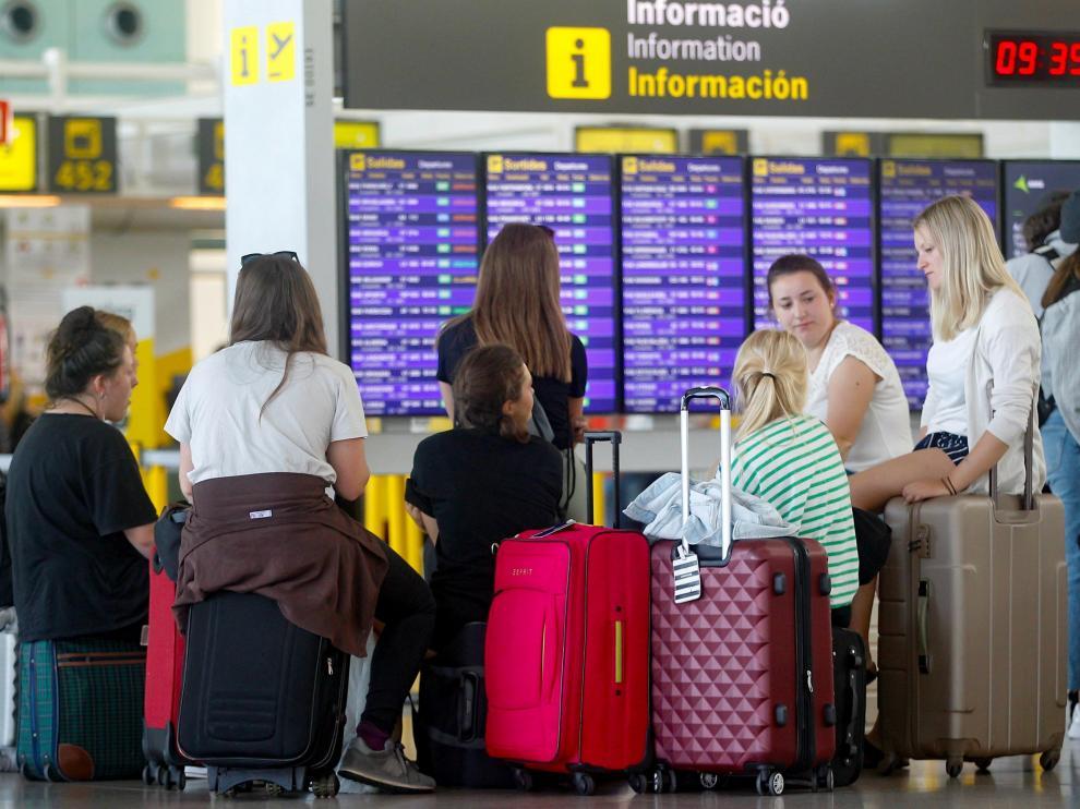 Jornada de huelga en el aeropuerto de Barcelona-El Prat.