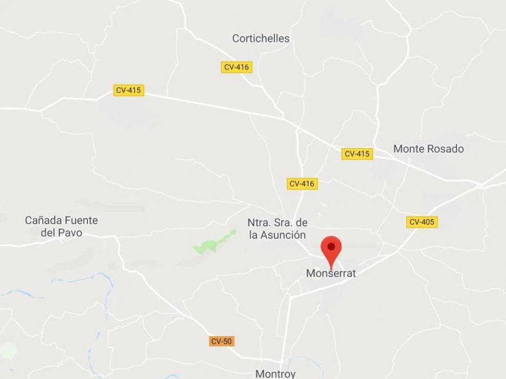 El suceso ha ocurrido en la localidad valenciana de Montserrat