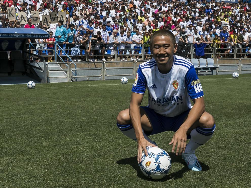 Presentación de Shinji Kagawa con el Real Zaragoza