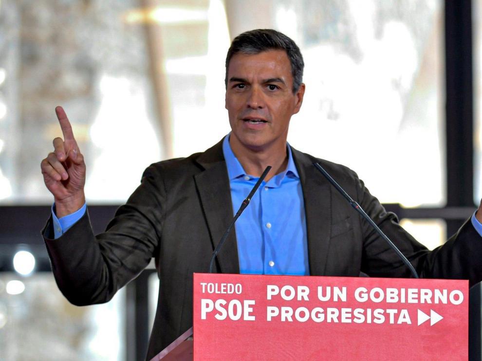 Pedro Sánchez, este sábado en Toledo