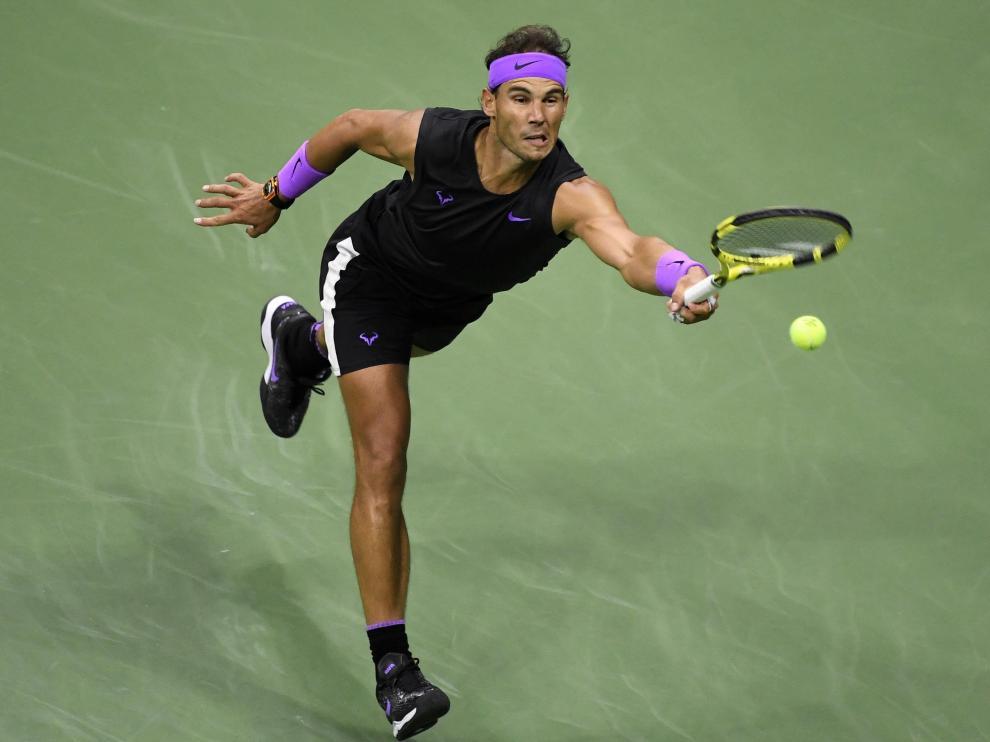 Rafael Nadal contra Matteo Berrettini, en la semifinal del Open USA