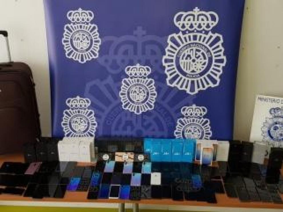 Parte del material recuperado por la Policía Nacional