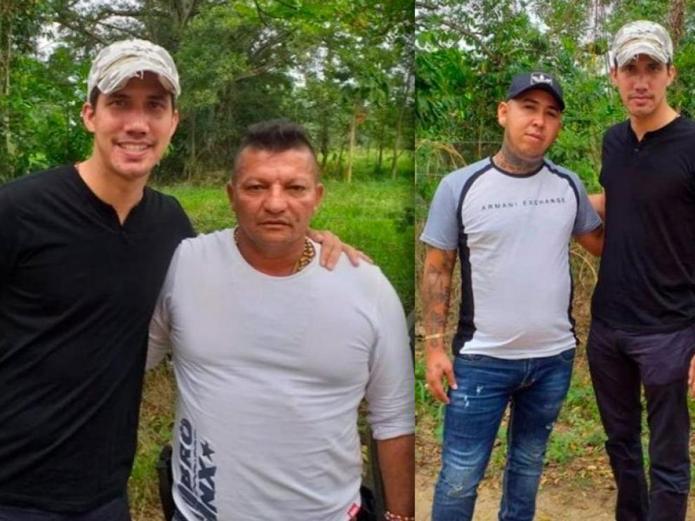 Imágenes de Juan Guaidó con miembros de la banda colombiana de narcotraficantes 'Los rastrojos'.