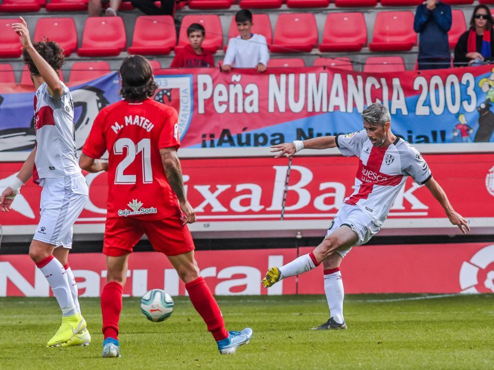 Luisinho, durante el partido contra el Numancia.