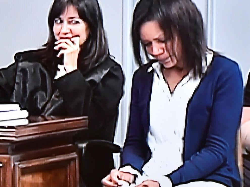 Ana Julia Quezada, durante la sesión del juicio de este martes