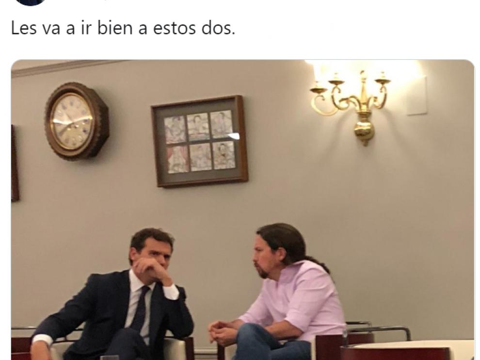 Imagen del tuit publicado por el alcalde de Valladolid