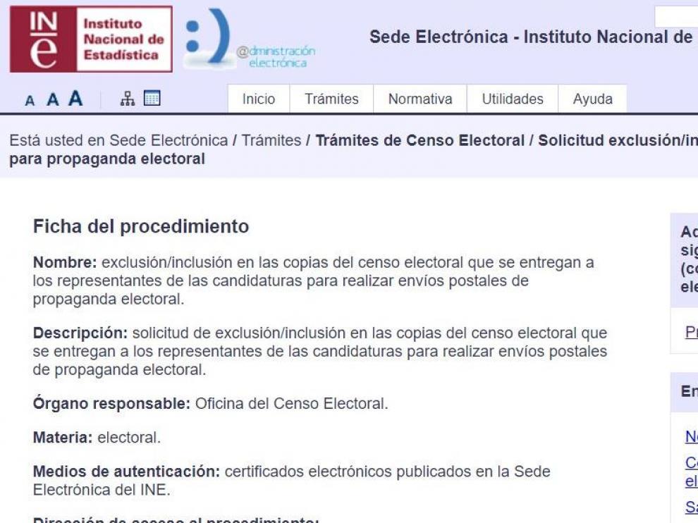 Miles de personas piden en el INE que no les envíen propaganda electoral del 10N