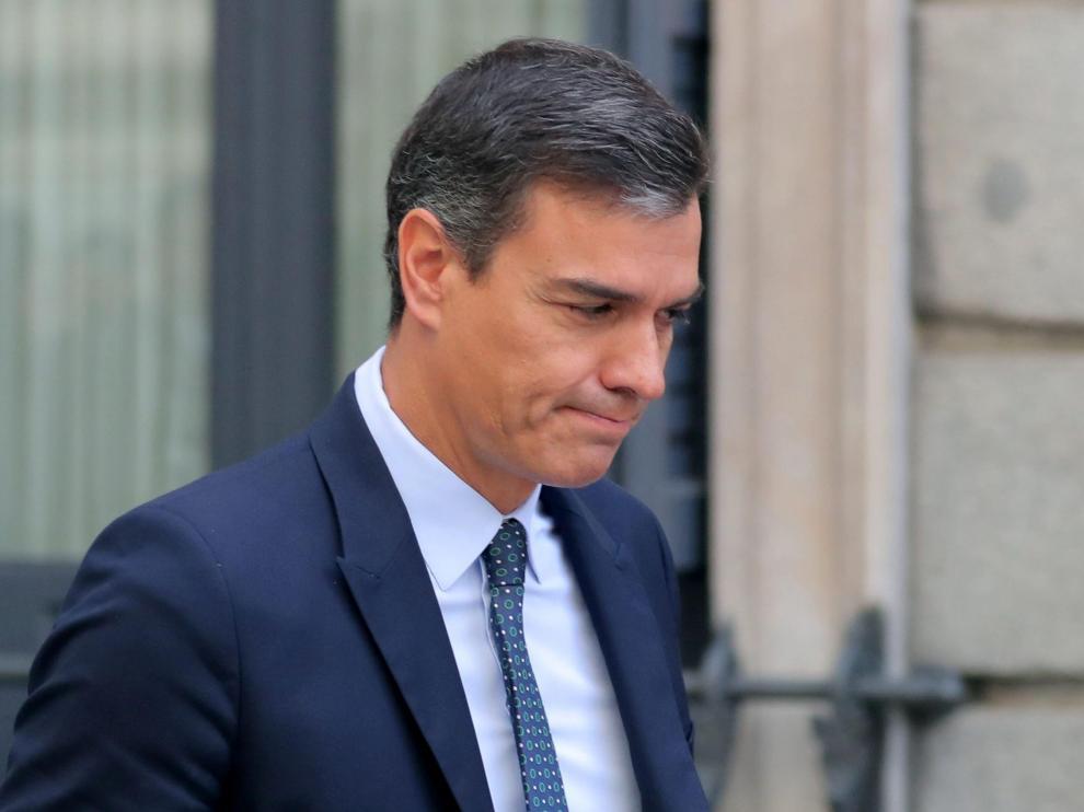Pedro Sánchez, en una imagen este miércoles, después de la sesión de control al Gobierno.