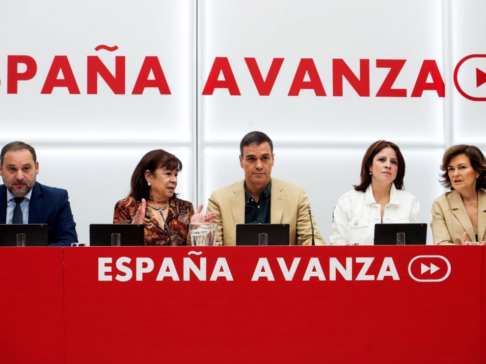 Reunión de la Ejecutiva federal de los socialistas.
