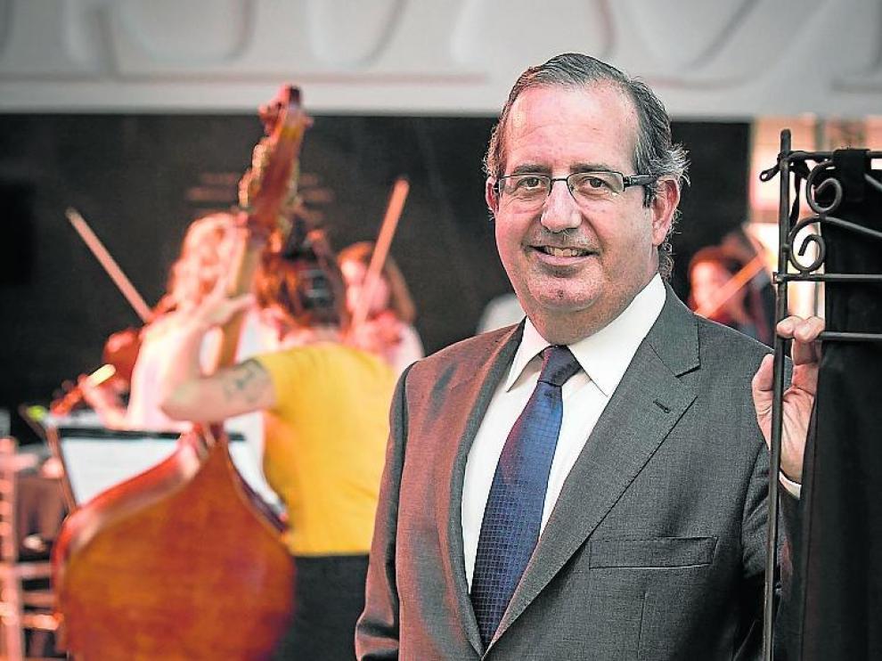 Javier Martí, en la gala de los premios HERALDO