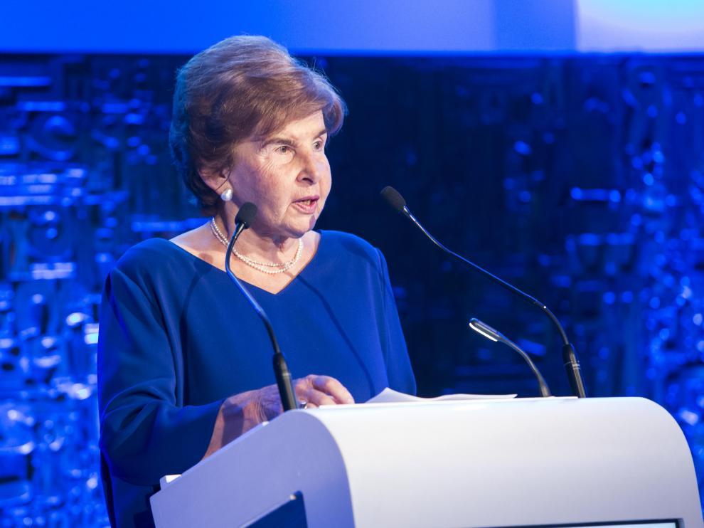 La presidenta editora de HERALDO, Pilar de Yarza, durante su discurso en la entrega de premios.