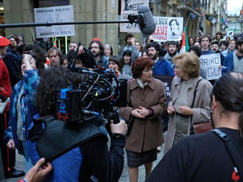 Imagen del rodaje de 'Patria', la serie de HBO basada en la novela de Aramburu.