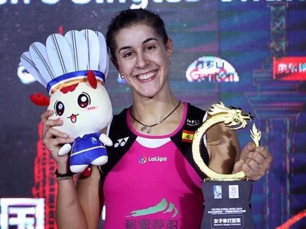 Carolina Marín se hace con el Abierto de China tras ocho meses de baja por lesión.