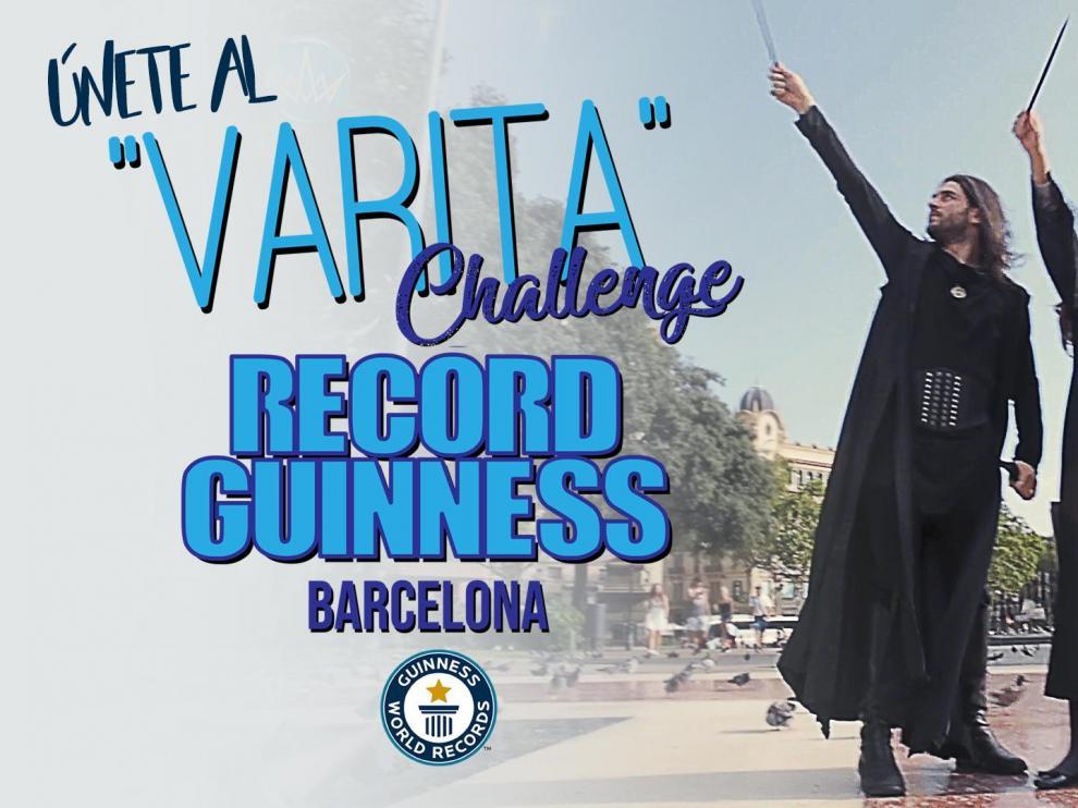 Cartel del Varita Challenge Record Guinness Barcelona