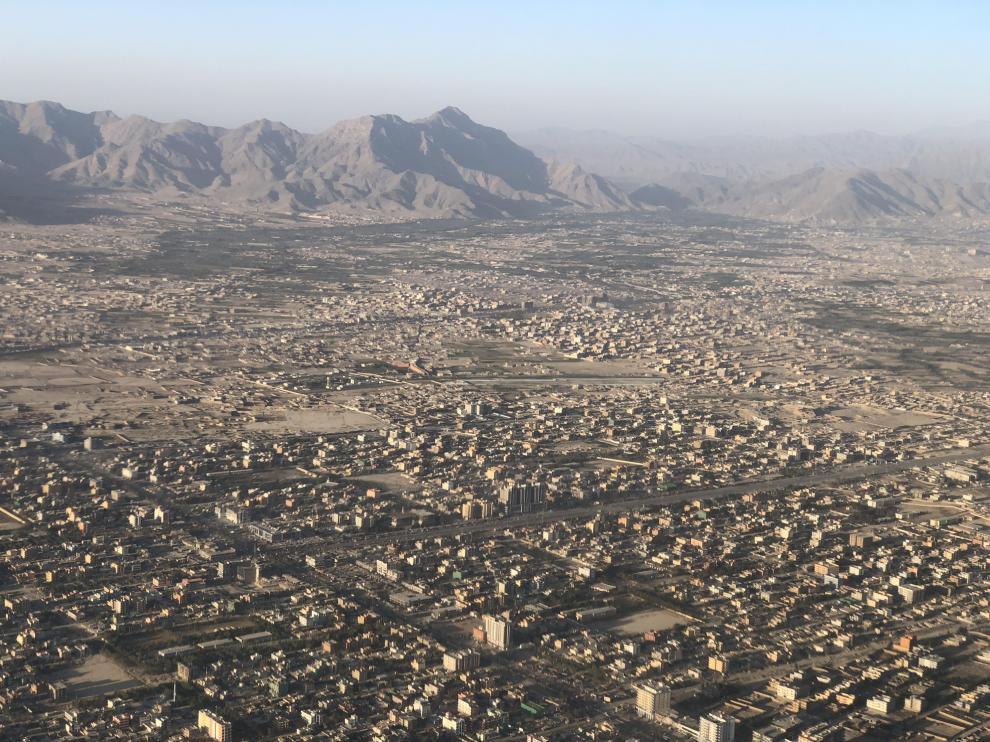 Kabul, desde el aire