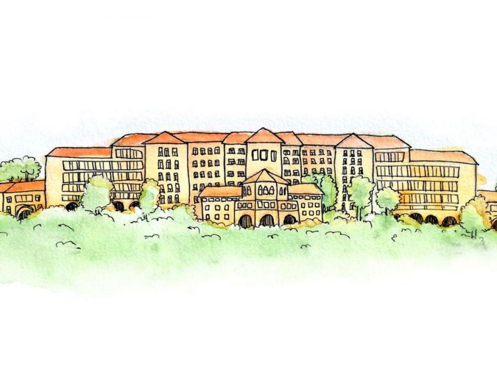 El Rollo Villanova es un hospital rodeado de naturaleza.