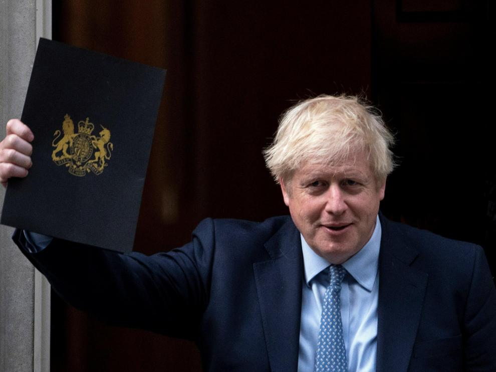 London (United Kingdom), 25/09/2019.- British Prime Minister Boris Johnson leaves 10 Downing Street, Central London, Britain, 25 September 2019. On 24 September, the Supreme Court ruled that the suspension of parliament by British Prime Minister Boris Johnson was unlawful. (Reino Unido, Londres) EFE/EPA/WILL OLIVER Westminster developments after the recall of Parliament