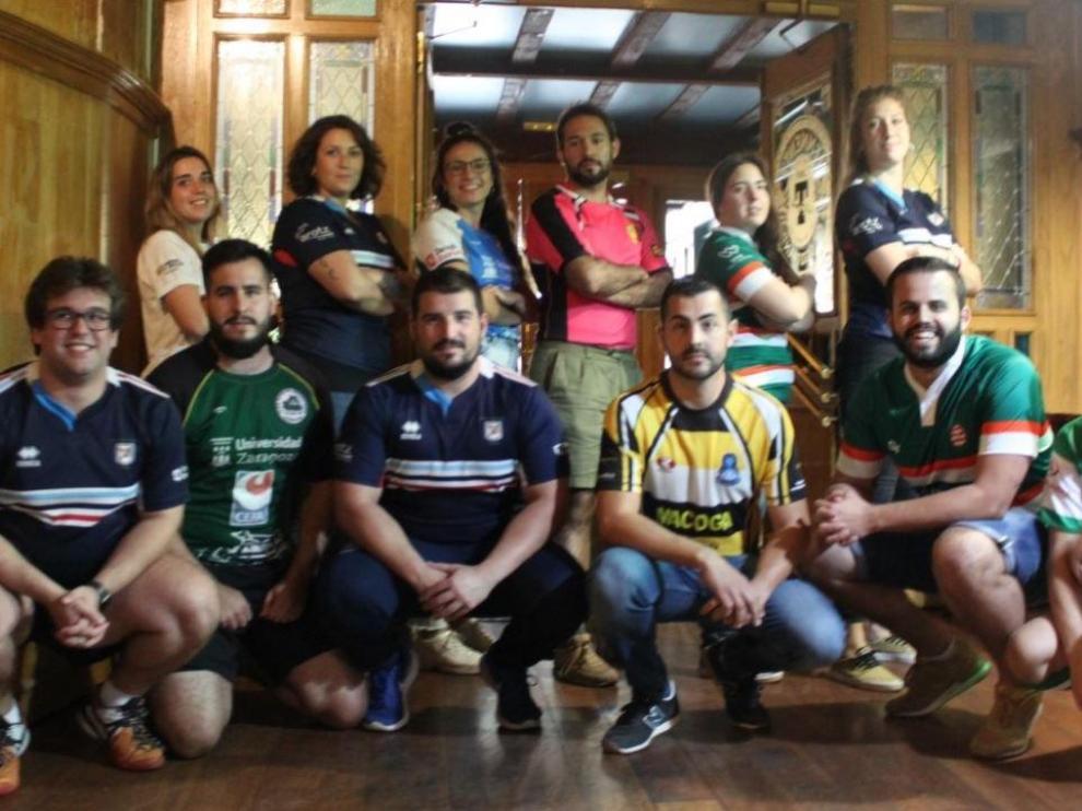 Capitanes de los equipos aragoneses sénior de rugby