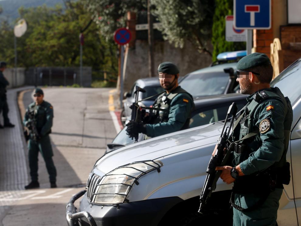 El operativo del lunes 23 de septiembre, durante la detención de los miembros de los CDR acusados de preparar atentados.