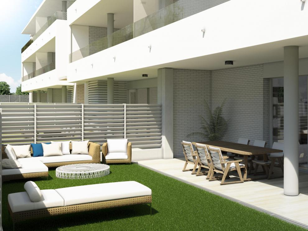 Las amplias terrazas constituyen otro de los puntos fuertes del residencial.