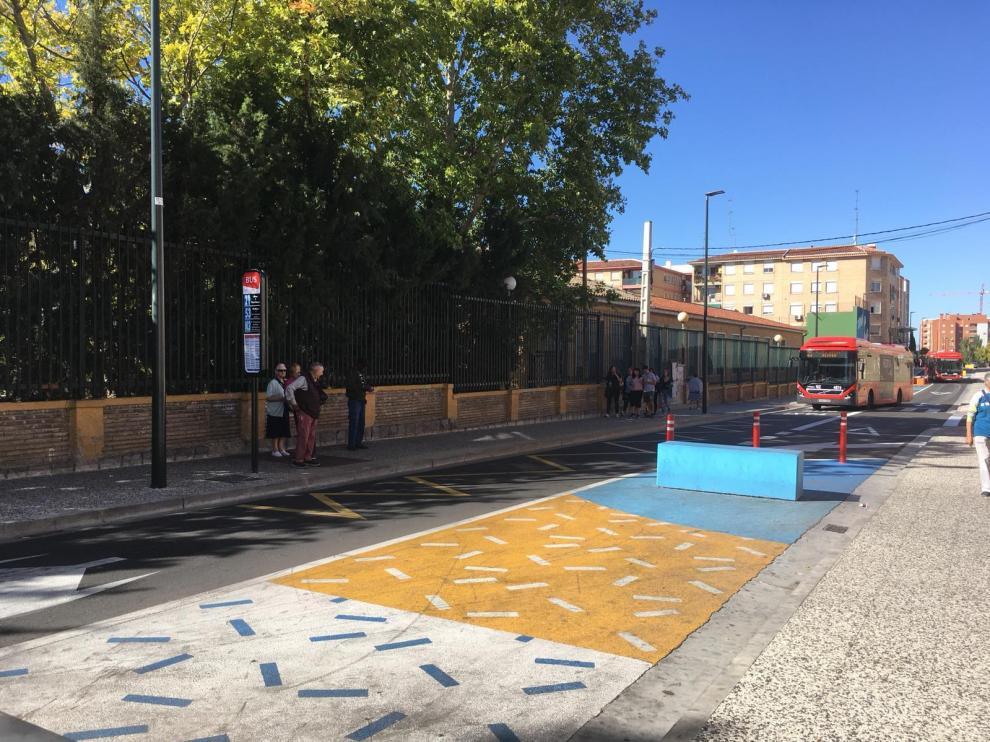 Calle de Antonio Leyva, en el barrio Olíver.