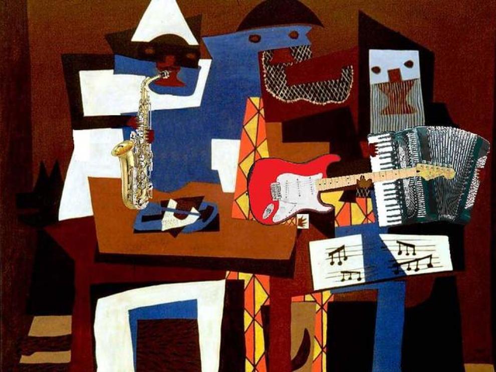 'Tres músicos', de Pablo Picasso (1921)